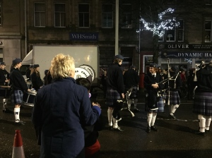 Bagpipes in the streets